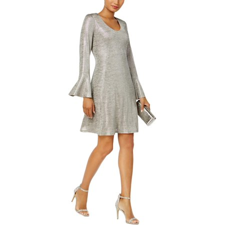 Ladies Petite Dress (Connected Apparel Womens Petites Metallic Textured Party)