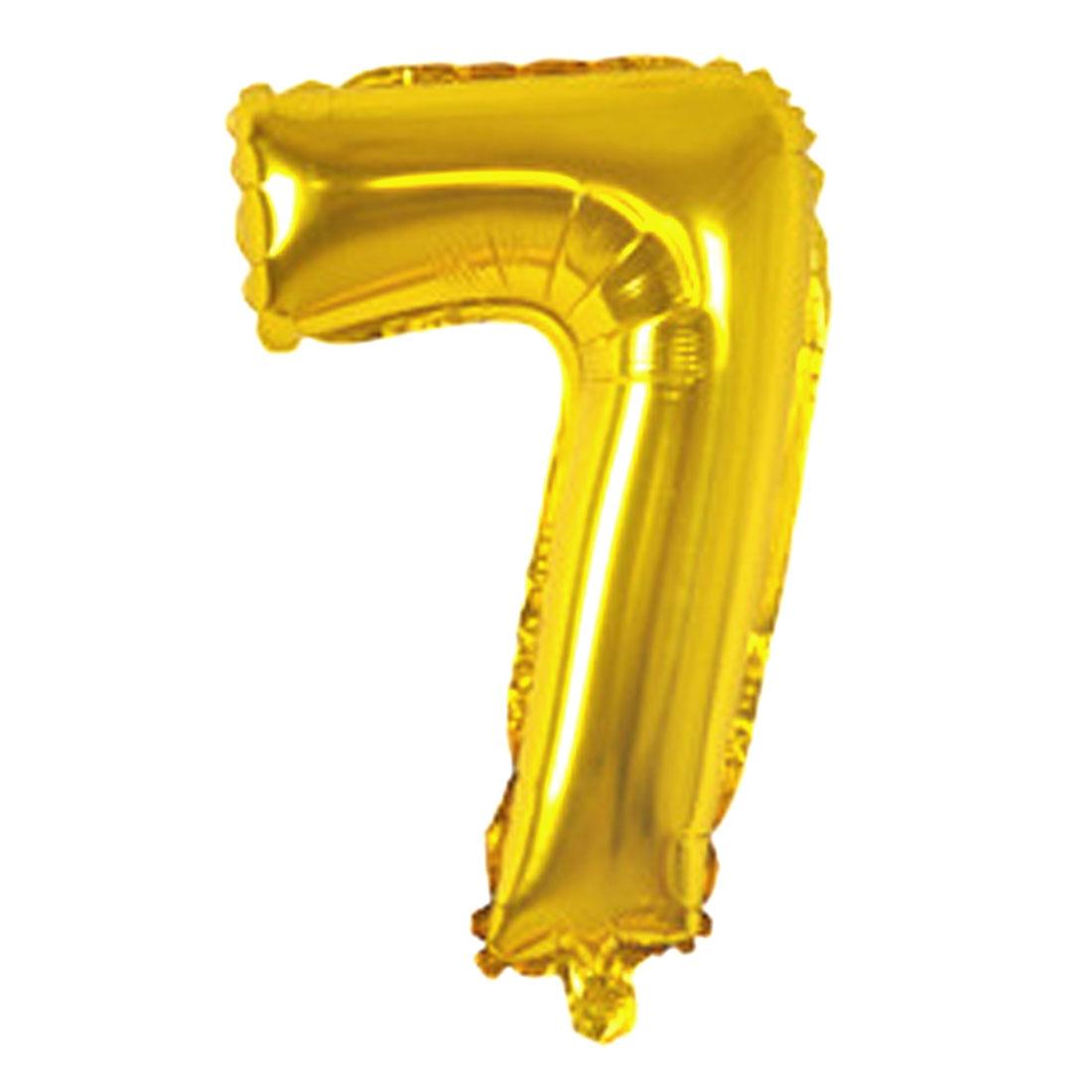 "Unique Bargains Number 7 Shape Helium Birthday Wedding Decor Foil Balloon 30"""