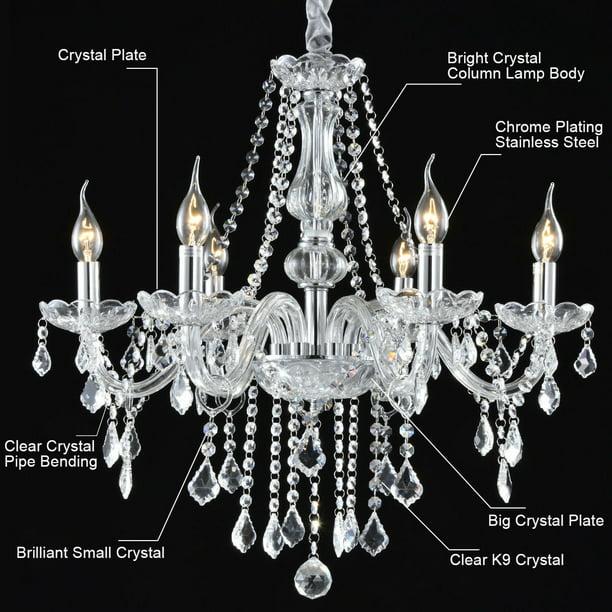Costway Elegant Crystal Chandelier