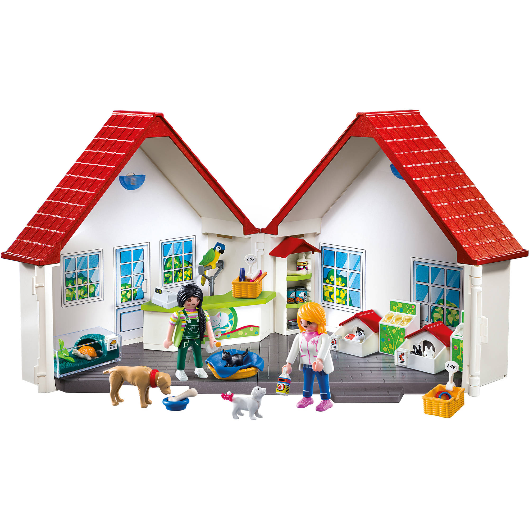 PLAYMOBIL Take Along Pet Store Playset - Walmart.com