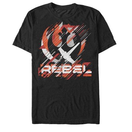 Star Wars Rogue One Rebel Crest Streaks Mens Graphic T (2 1 2 Men Female Guest Stars)