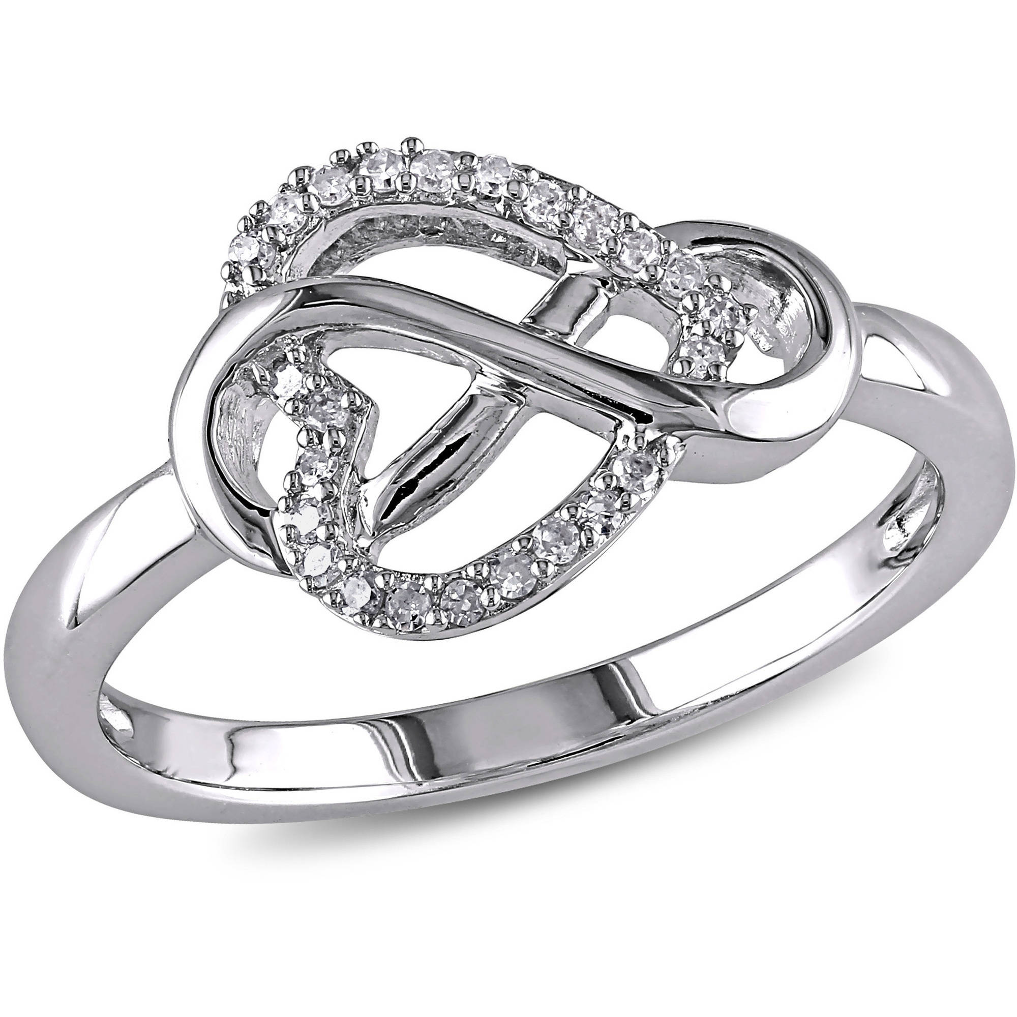 Miabella Diamond-Accent Sterling Silver Infinity Heart Ring