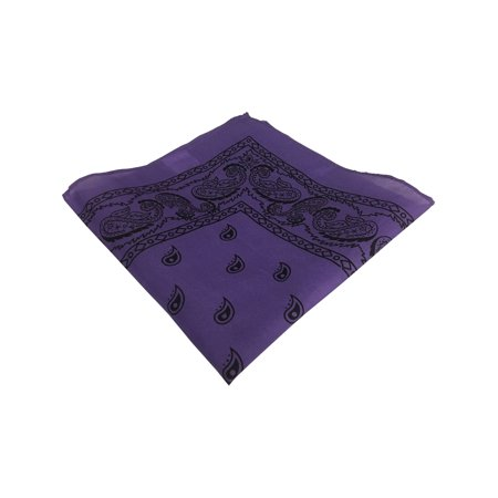 Purple And Black Cowboy Cowgirl Western Bandana Head Scarf Costume Accessory