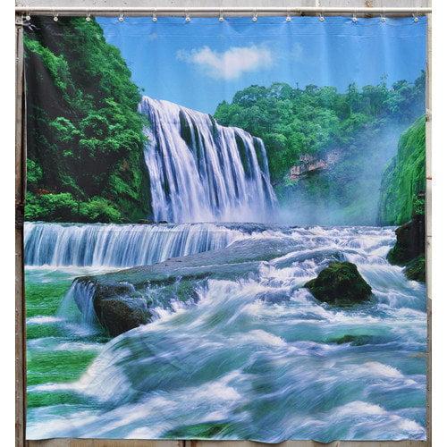 Jet Creations Waterfall Shower Curtain
