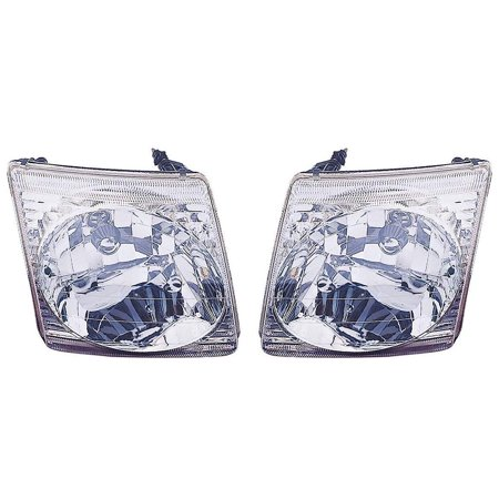 CarLights360: Fits 2001 2002 2003 2004 2005 FORD EXPLORER SPORT TRAC Head Light Pair Driver and Passenger Side W/ Bulbs (DOT Certified) Replaces FO2502170 FO2503170 Explorer Sport 2 Door Headlight