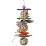 12 by 5-Inch Crunch and Munch Bird Toy, Medium, Perfect size for Caiques, Conures, Quakers and Ringnecks By Super Bird Creations