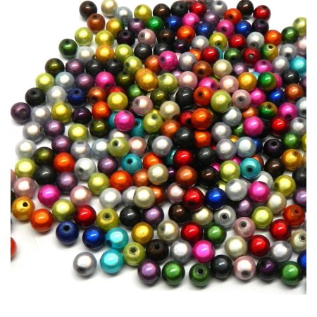 300 Miracle Acrylic Spacer, Loose Beads, 8mm Round (1.9mm (300 Beads)
