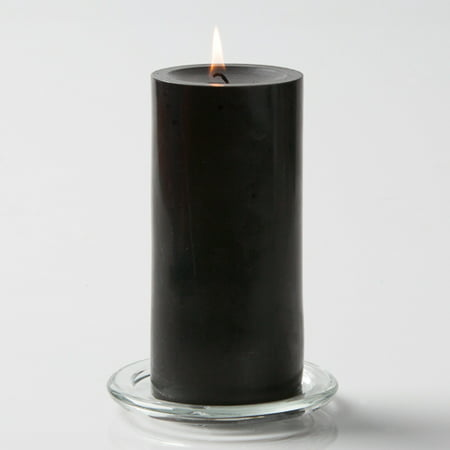 "Richland Pillar Candle 3"" x 6"" Black"