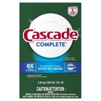 Cascade Complete Powder Dishwasher Detergent, Fresh Scent, 125 Oz