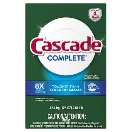 Cascade Complete Powder Dishwasher Detergent, Fresh Scent, 125 Oz