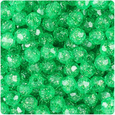 8mm Seed Beads - BeadTin Mint Sparkle 8mm Faceted Round Craft Beads (450pcs)