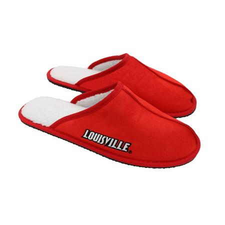 Louisville Cardinals Wordmark Open Back Moccasin Slippers