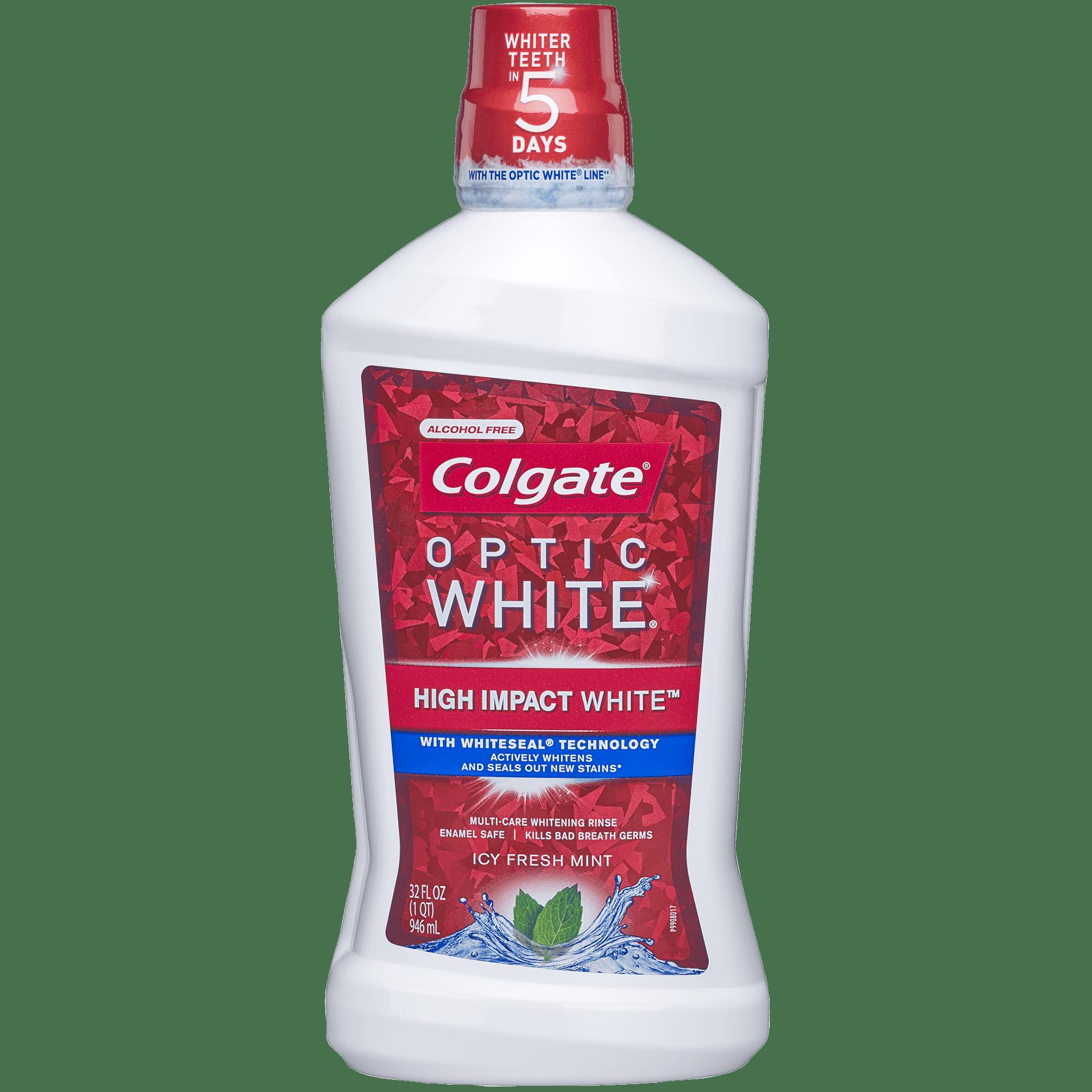 Colgate Optic White Whitening Mouthwash, Fresh Mint - 946mL, 32 fl oz