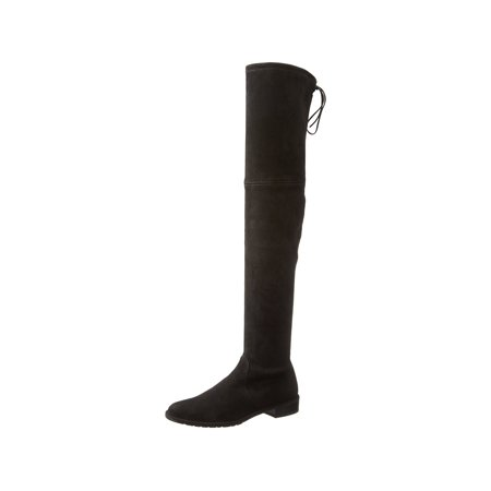 49b7ff6cfb0c Stuart Weitzman Women's Lowland Over-The-Knee Boot, Black Suede, Size 10.0