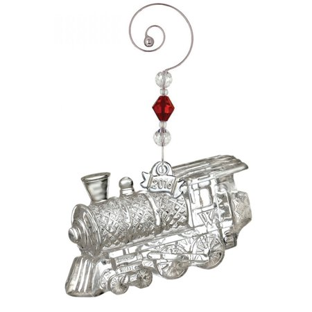 (2016 Waterford Annual Train Engine Crystal Christmas Ornament Locomotive New)