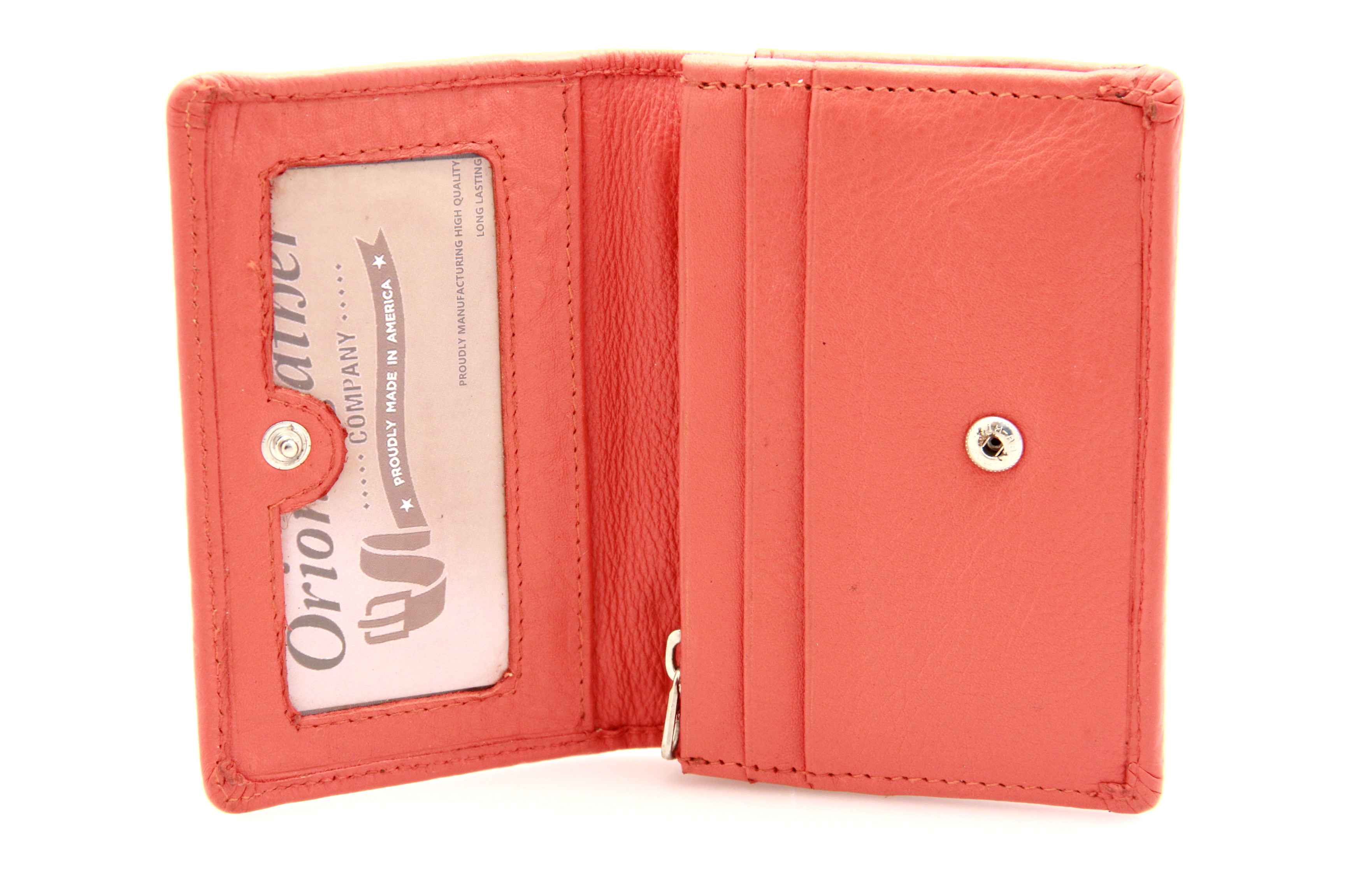 Paul Taylor Womens Wallet Small Card Case Change Purse Button Snap