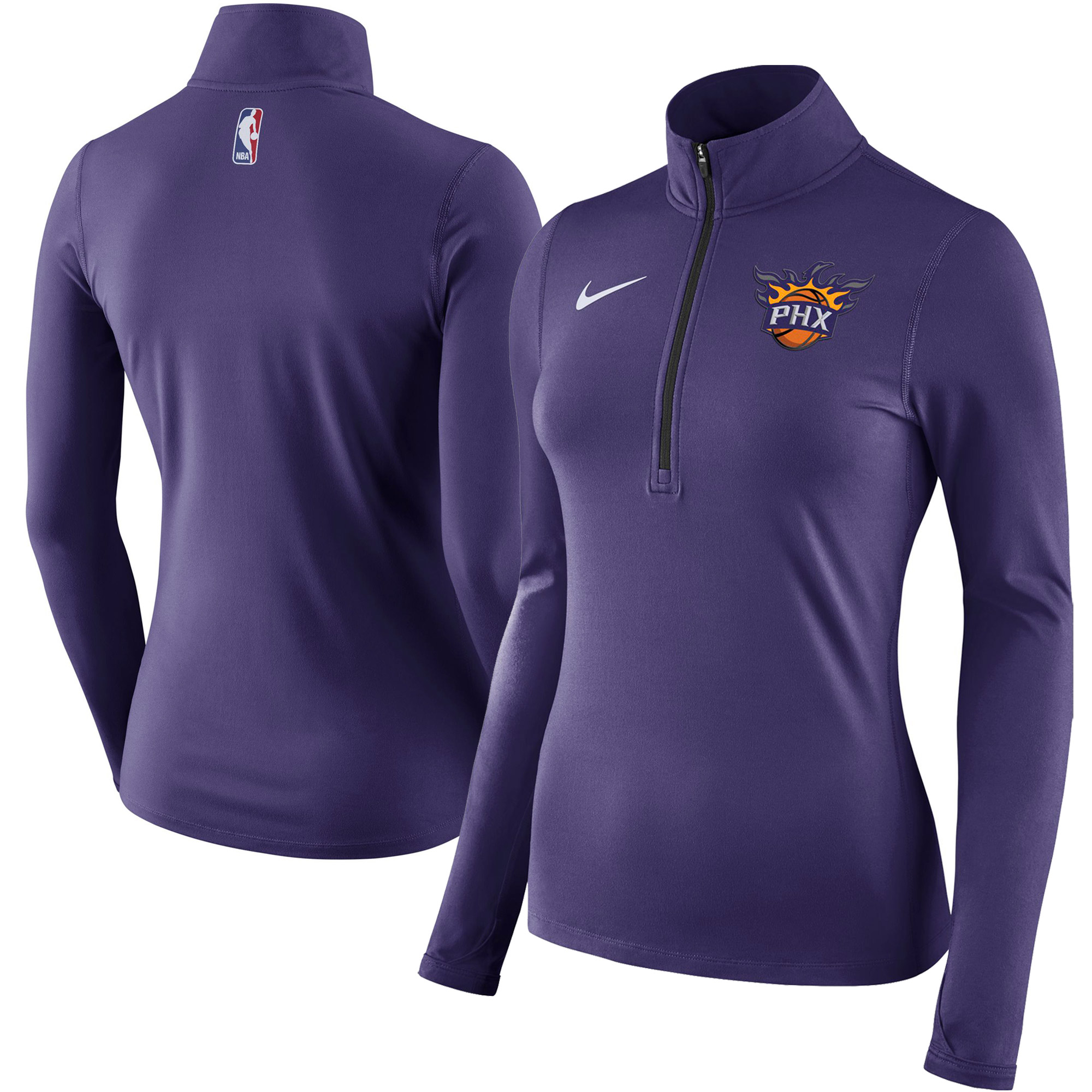 Phoenix Suns Nike Women's Element Quarter-Zip Jacket - Purple