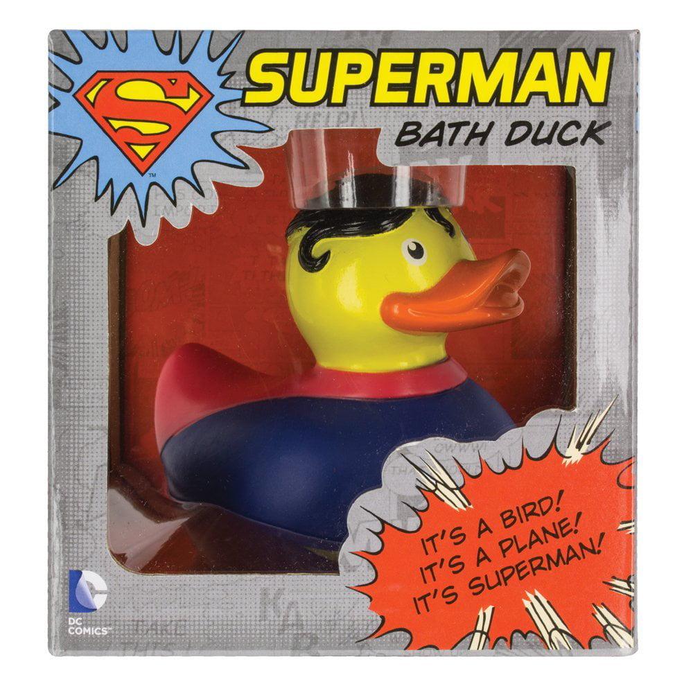 DC Comics Superman Rubber Duck Toy, BATHTUB TOYS: ITu0027S A BIRD ITu0027S A PLANE  .ITu0027S A .DUCK!! Whether Youu0027re 4 Or 104 This DC Comics Superman Rubber Duck  Will ...