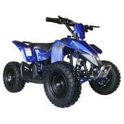 MotoTec 24V Kids Battery Powered ATV Four Wheeler V3 Blue