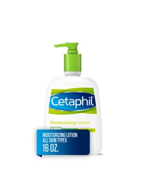 Cetaphil Moisturizing Lotion for All Skin Types, Fragrance-Free, 16 fl oz