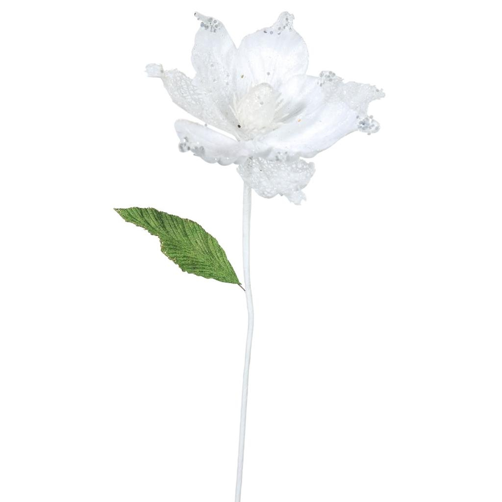 "Vickerman 412220 - 22"" White Magnolia, 8"" Flower, 6/Bag (..."