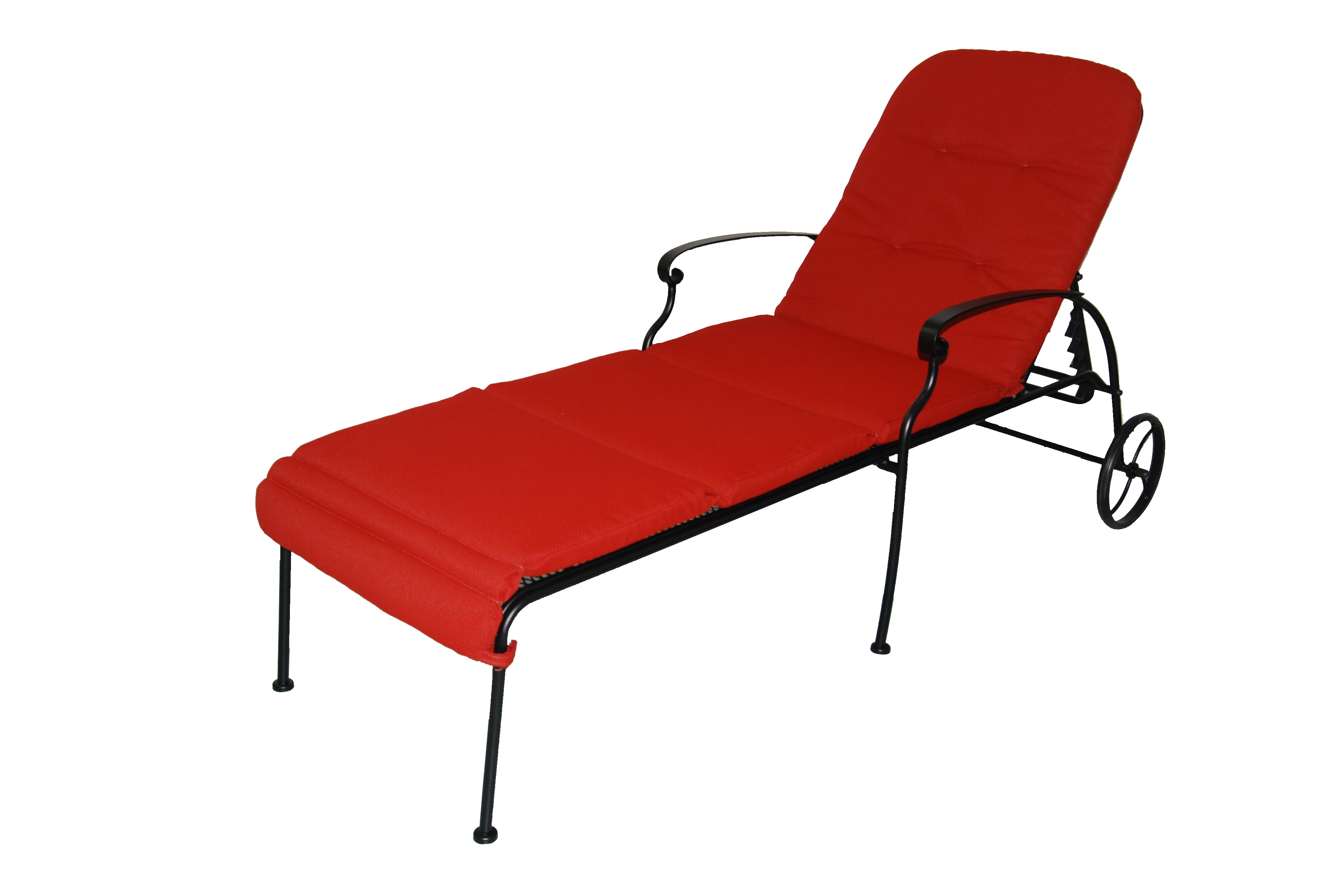 Better Homes Gardens Clayton Court Chaise Lounge With Wheels Red Walmart Com Walmart Com