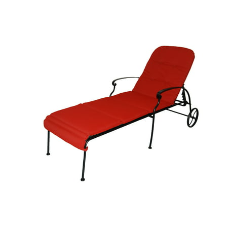 Better Homes & Gardens Clayton Court Chaise Lounge with Wheels, Red Nautical Wheel Chaise Lounge
