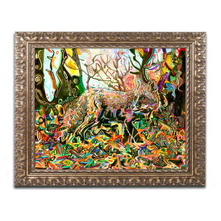 Trademark Fine Art  Mozilla S Fox  Canvas Art By Josh Byer  Gold Ornate Frame