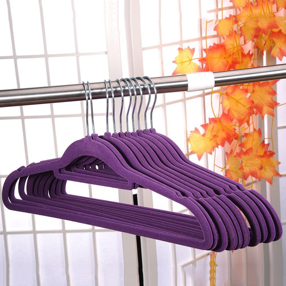 Zimtown Premium Velvet Hangers Heavy Duty Clothes Hangers Home Organization 10PCS Multi-color