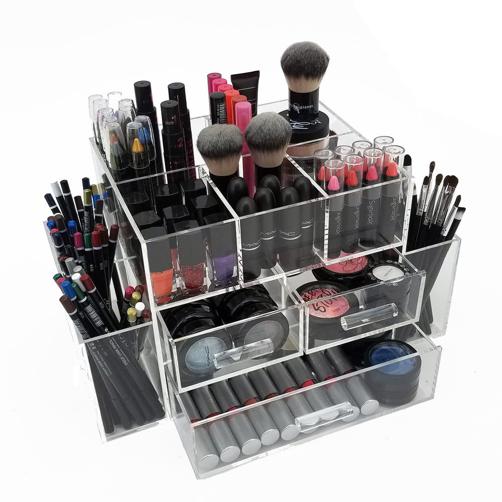 OnDisplay Amara 3 Drawer Tiered Acrylic MakeupJewelry Organizer