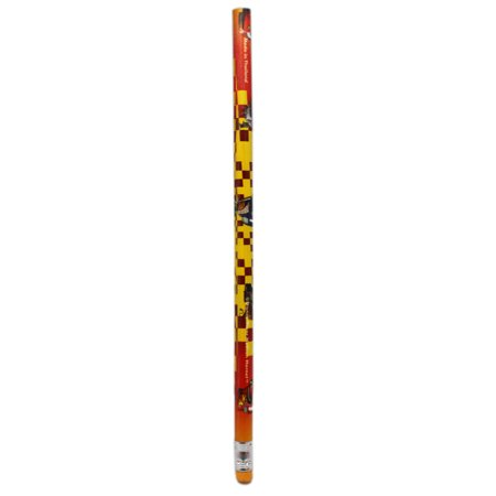 Disney Pixar's Cars Checker Flag Pattern Wooden Pencil w/Bottom Eraser