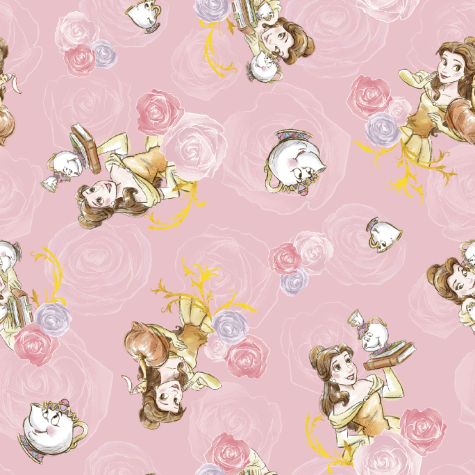 Beauty and the Beast Personalised Gift Wrap Princess Belle Wrapping Paper