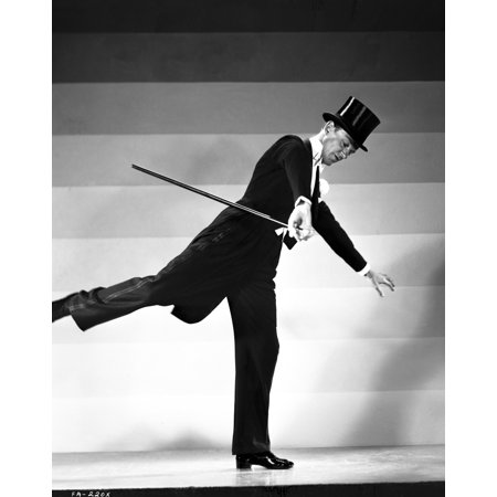 Fred Astaire Dancing in Top Hat Tie and Tails Photo Print