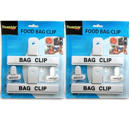 8 Pc Food Chip Bag Clips Assorted Size Multi Purpose Mini Clip Craft Clothespin