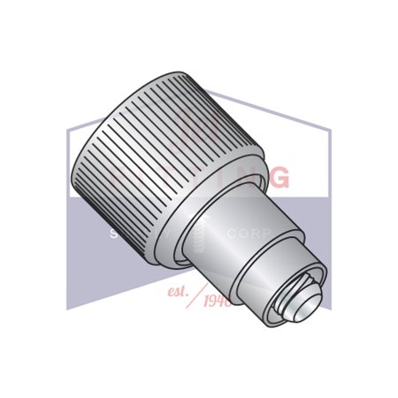 632 x .360 x .250 Retractable Captive Panel Fastener   Flare In Style   Natural Finish (Quantity: - 360 Panel