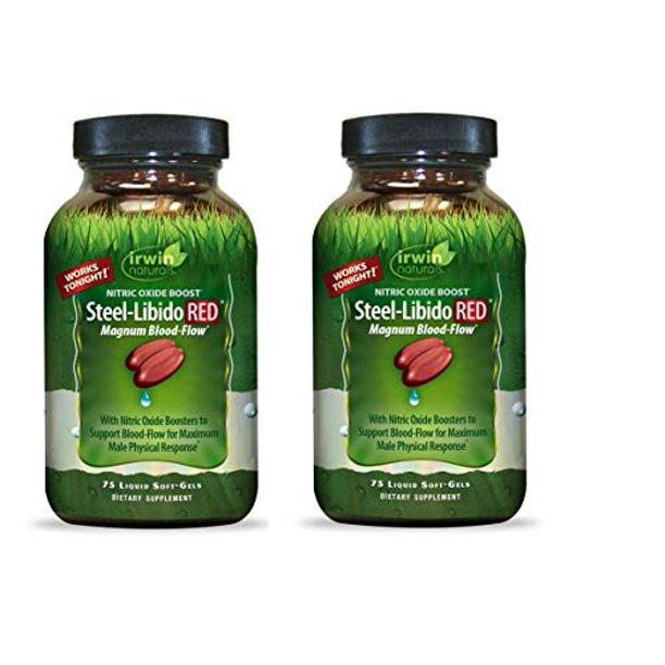 Irwin Naturals Steel Libido Red - 75 Softgels (Pack of 2) - Walmart.com - Walmart.com