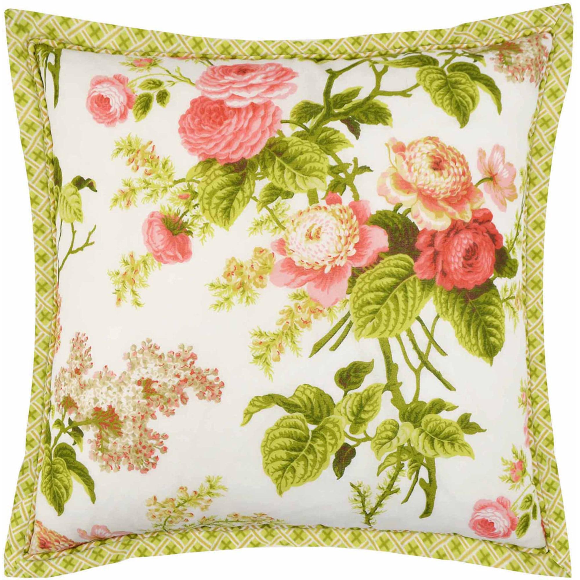 """Emma's Garden 18"""" x 18"""" Decorative Pillow"""