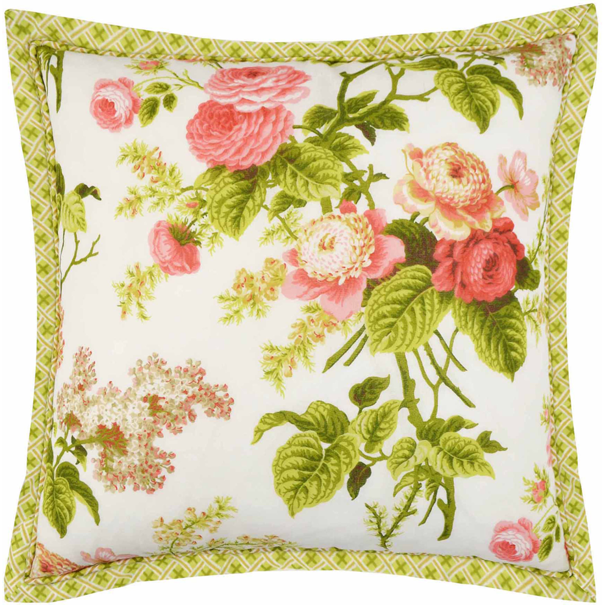 "Emma's Garden 18"" x 18"" Decorative Pillow"