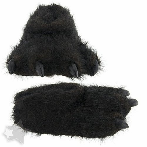 "Furry Black Slippers 15"" by Wishpets - 55320"