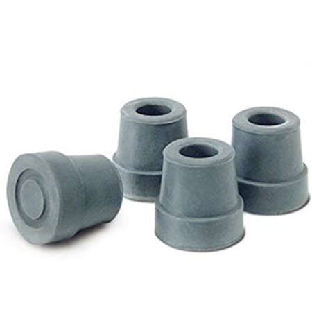 Gray Tubing (Pivit Quad Cane Replacement Tips | Small Base, Gray | Pack of 4 | Fits Any 1/2