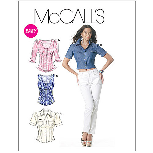 McCall's Pattern Misses' Tops, AA (6, 8, 10, 12)