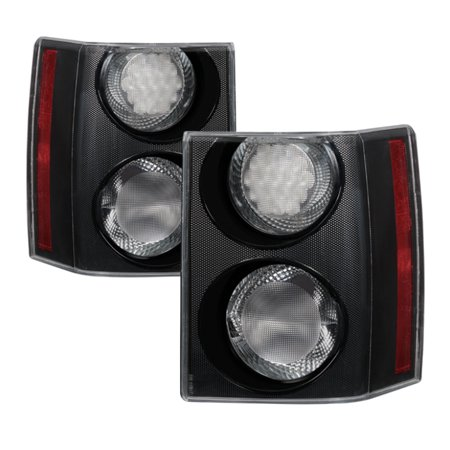 Land Rover Styling - Xtune Land Rover Range Rover 06-09 Euro Style Tail Lights Clear ALT-JH-LRRRS06-CL