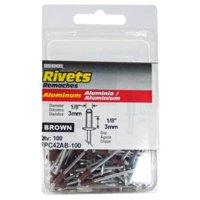 FPC42AB-100 100-Pack Short Brown Aluminum Rivets - Quantity 1