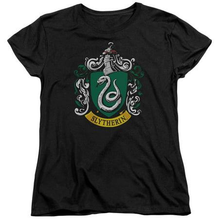 Harry Potter Slytherin Crest Womens Short Sleeve Shirt