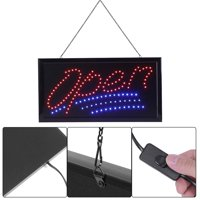 Ejoyous 1pc Large Bright LED Shop Sign Board Neon Light Window Door Hang Sign Open, Neon Sign, Neon Sign Open