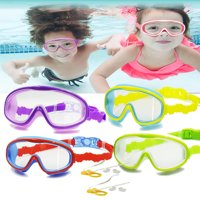 2 Pack Swim Mask For Kids, Children - Adjustable - Diving Snorkeling (Snorkel) Swimming (Ages 3-15) Anti-Fog UV Protection Waterproof Crystal Clear Wide Vision No Leaking Swim Glasses