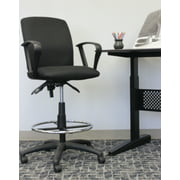 Boss Office & Home Black Multifunctional Loop Arm Drafting Stool