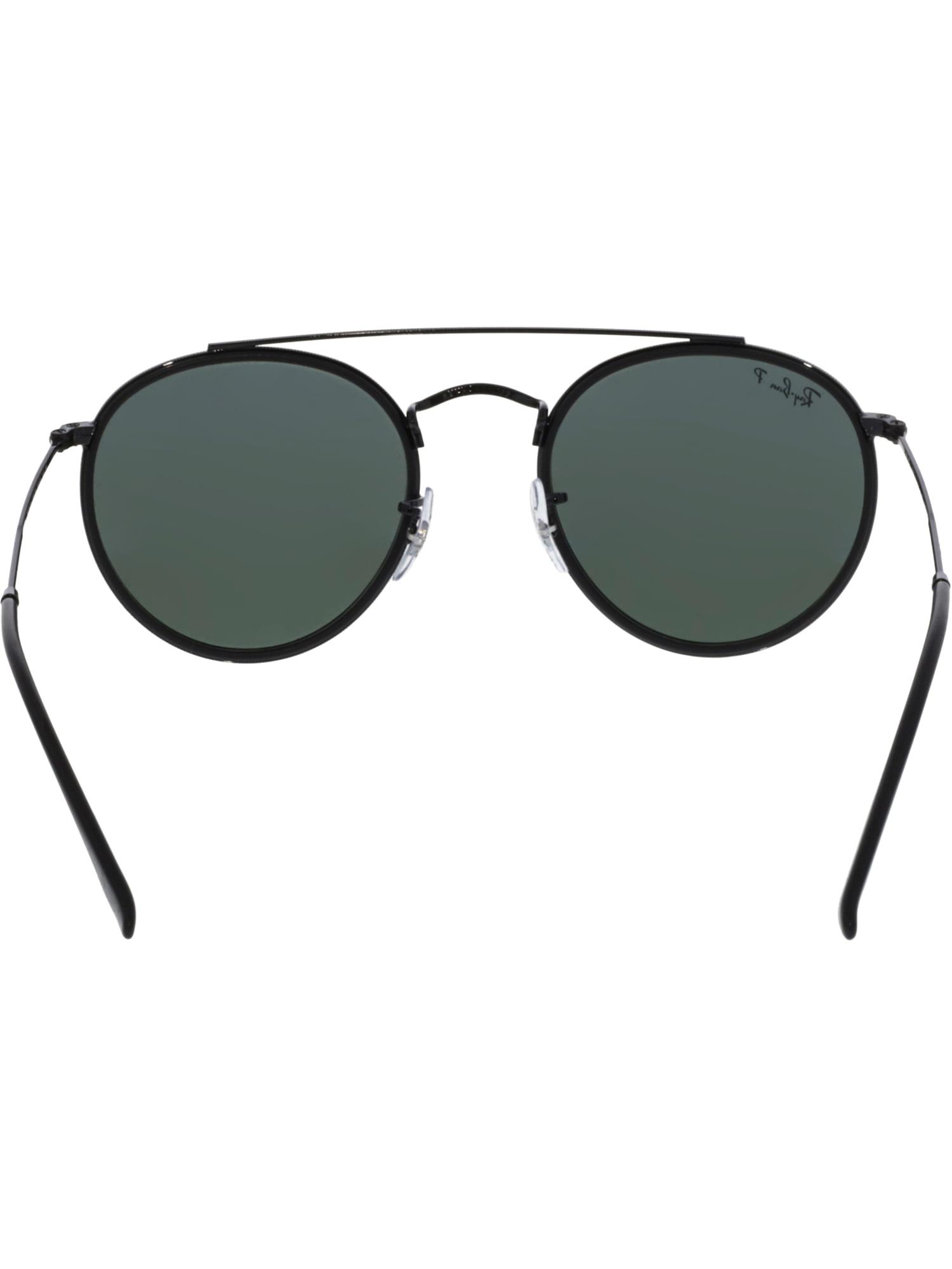 4e8467b40ed4bc Ray-Ban - Ray-Ban Round Double Bridge Black Sunglasses