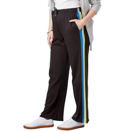 Orange And Black Striped Leggings (Plus Size Sport Knit Side-stripe)