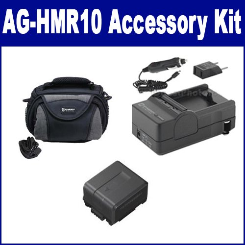 Panasonic AG-HMR10 Camcorder Accessory Kit includes: SDM-130 Charger, SDVWVBG130 Battery, SDC-26 Case